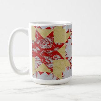 Edredón americano antiguo tazas de café