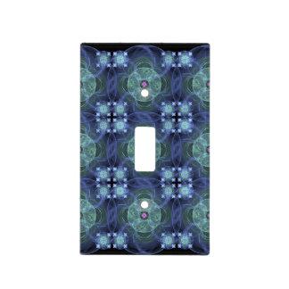 Edredón azul - cubierta de interruptor de la luz placa para interruptor