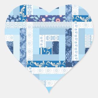 Edredón azul pegatina en forma de corazón