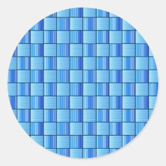 Edredón azul pegatina redonda