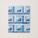 Edredón azul puzzles con fotos