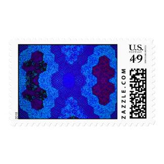 Edredón azul sellos