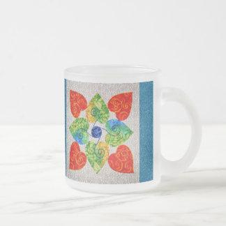 Edredón banal de los corazones - bloque #1 taza cristal mate