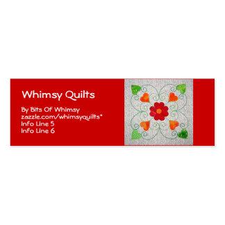 Edredón banal de los corazones - bloque #2 tarjetas de visita mini