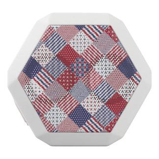 Edredón blanco de los E.E.U.U. y azul rojo Altavoces Bluetooth Blancos Boombot REX