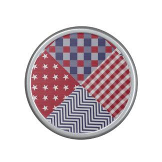 Edredón blanco de los E.E.U.U. y azul rojo Altavoz