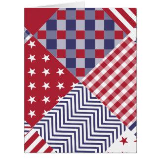 Edredón blanco de los E.E.U.U. y azul rojo Tarjeta De Felicitación Grande