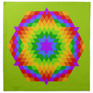Edredón coloreado arco iris de la estrella de Halo Servilleta