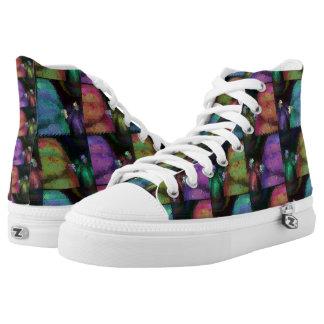 Edredón colorido de la calabaza zapatillas