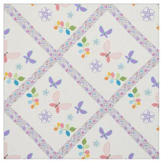 Edredón colorido de la mariposa (púrpura y rosa) telas