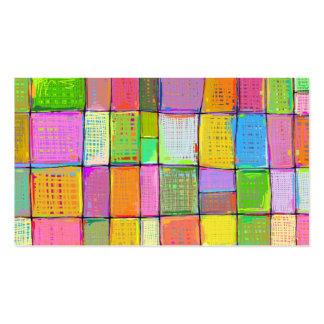 Edredón colorido del arte moderno que pinta plantilla de tarjeta de visita