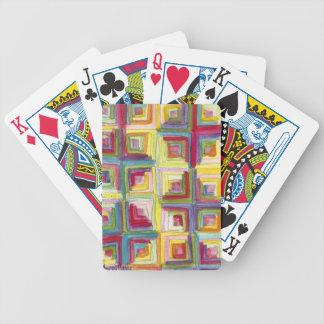 edredón de la cabaña de madera baraja cartas de poker