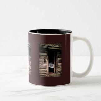 Edredón de la cabina taza de café de dos colores