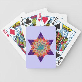 Edredón de la estrella en púrpura y naranja baraja cartas de poker