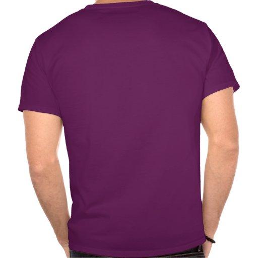 Edredón de la estrella en púrpura y naranja camiseta