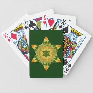 Edredón de la estrella en verde y amarillo barajas