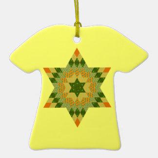 Edredón de la estrella en verde y amarillo ornamento de reyes magos