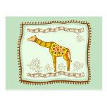 Edredón de la jirafa tarjetas postales