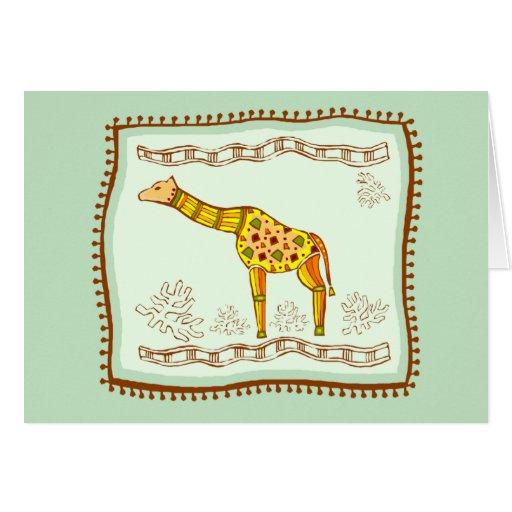 Edredón de la jirafa tarjeton