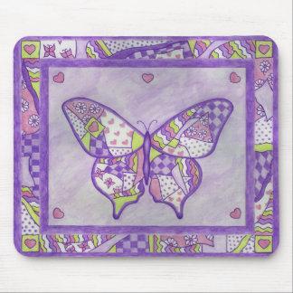 edredón de la mariposa alfombrilla de ratón