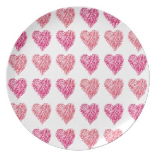 Edredón de la tarjeta del día de San Valentín de c Plato Para Fiesta