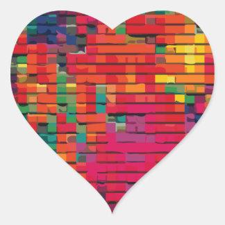 Edredón de remiendo #1 pegatina en forma de corazón