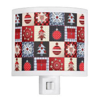 Edredón de remiendo caprichoso del navidad de la lámpara de noche