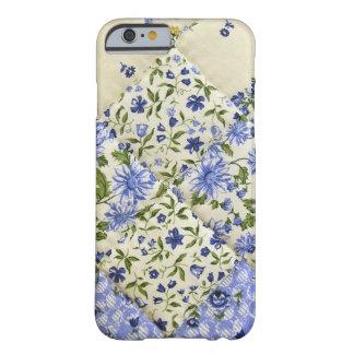 Edredón de remiendo floral azul funda barely there iPhone 6