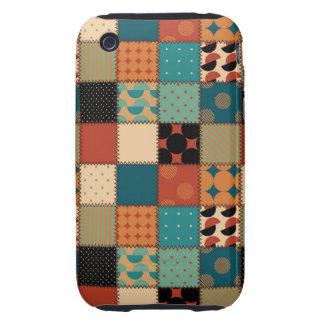 Edredón de remiendo hermoso del país tough iPhone 3 protector