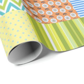 Edredón de remiendo papel de regalo
