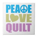 Edredón del amor de la paz azulejo ceramica