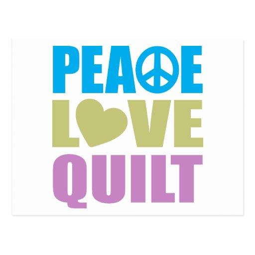 Edredón del amor de la paz tarjetas postales