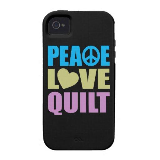 Edredón del amor de la paz vibe iPhone 4 carcasa