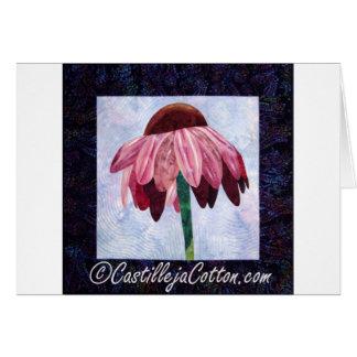 Edredón del arte de la flor del cono tarjeta de felicitación