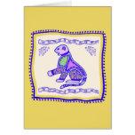 Edredón del leopardo tarjetas
