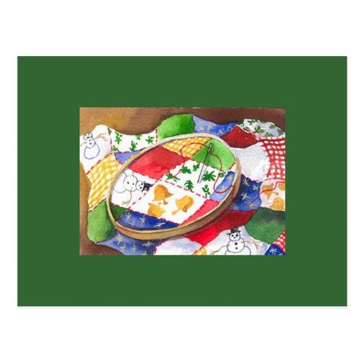 Edredón del navidad tarjeta postal
