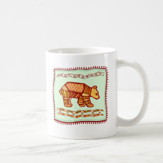 Edredón del oso taza básica blanca
