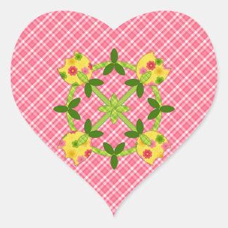 Edredón del tulipán del Applique Pegatina En Forma De Corazón