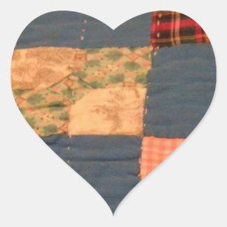 Edredón escaso pegatina en forma de corazón