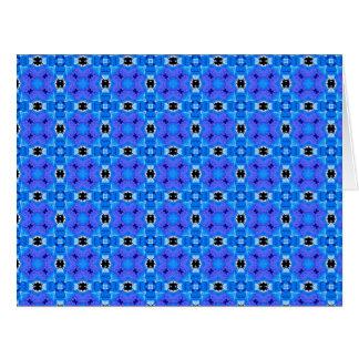 Edredón floral abstracto violeta azul moderno del tarjeta de felicitación grande