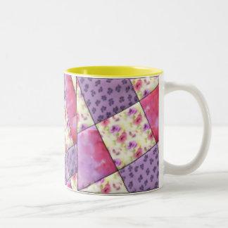 Edredón floral púrpura del KRW Taza De Café De Dos Colores