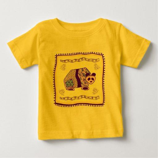 Edredón indio de la panda tee shirt