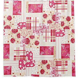 Edredón loco color de rosa de rubíes dulce del cortina de baño