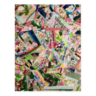 Edredón loco en colores de la primavera tarjeta postal