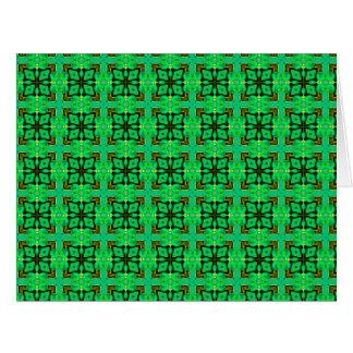 Edredón marroquí del diamante del extracto del tarjeta de felicitación grande