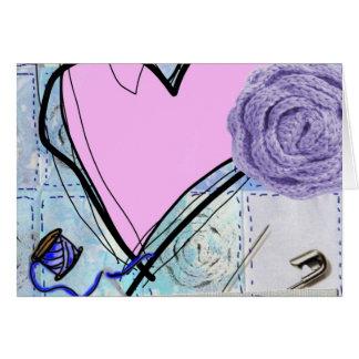 Edredón rosado tarjeta de felicitación