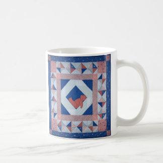 Edredón soñoliento del oso tazas de café