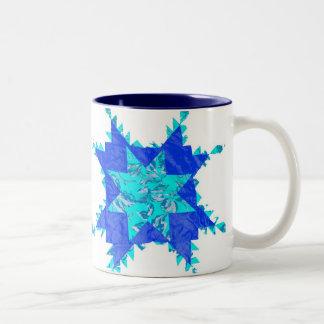 Edredones americanos antiguos taza de café de dos colores