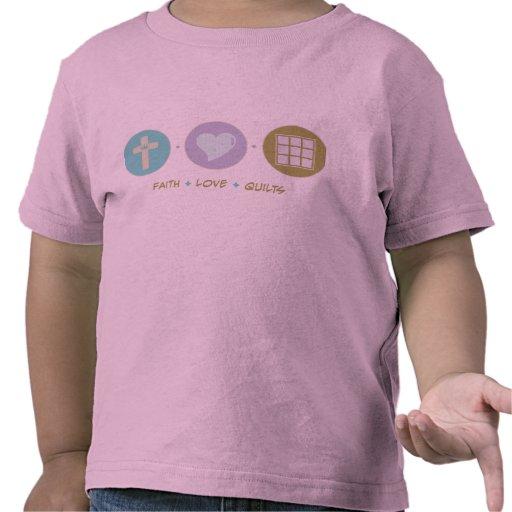 Edredones del amor de la fe camisetas