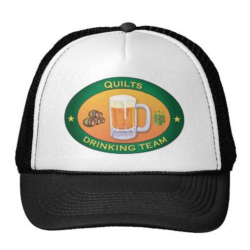 Edredones que beben al equipo gorras de camionero